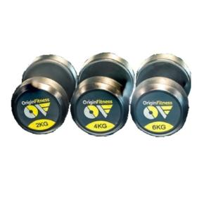 Origin Fitness Rubber Dumbell Set,  22kg to 40kg