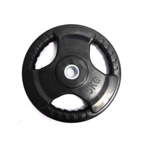 Rubber Coated Standard Weight Plate (Tri-Grip)